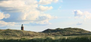 The lighthouse in Kampen surrounded by Sylt's sweeping dunes
