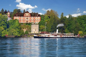 Approaching Mainau by boat