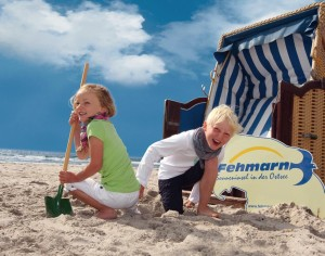 Children can play to their hearts' content on Fehmarn's sandy Südstrand beach.