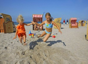 Fun on the beach on Poel