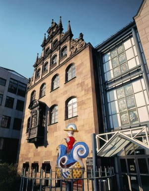 The exterior of the toy museum in Nuremburg