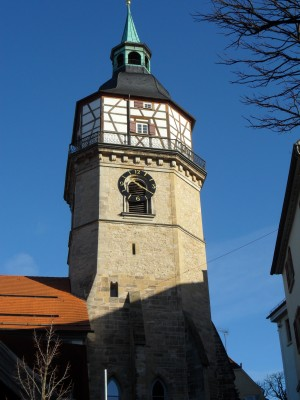 Backnang, city tower