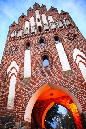 European brick Gothic Route - New gate in Neubrandenburg
