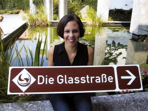 Glass street sign