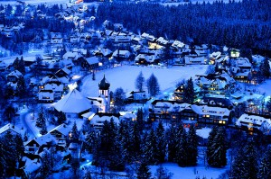 A view of Hinterzarten in winter