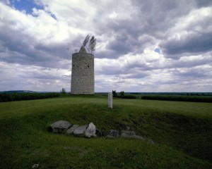 Langeneichstädt water tower, megalithic tomb and stele
