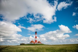 Cheese Route - lighthouse in Westerhever
