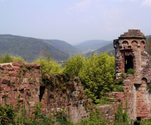 The ruins of Wildenberg Castle, Preunschen district