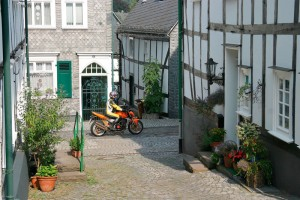 Freudenberg, Siegerland: riding a motorcycle