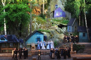 The Luisenburg Festival in the oldest open-air theatre in Germany in front of the biggest rock labyrinth in Europe