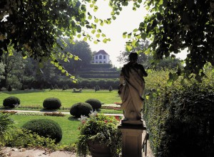 Baroque garden at Diesbar-Seusslitz Palace