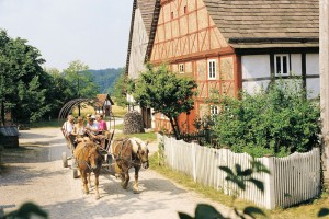 Detmold: carriage ride in the open-air museum