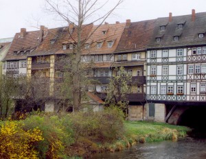 The Merchants' Bridge (Krämerbrücke), Thuringia