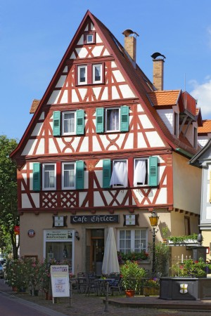 Half-timbered house in Bad Mergentheim