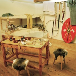 Limes information centre, reconstruction of a Roman guardroom – journey back to Roman times