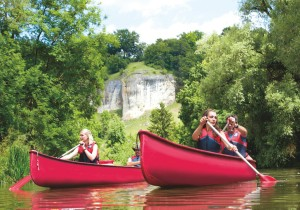 Stress-free holidays – leisurely canoe tours on the Altmühl