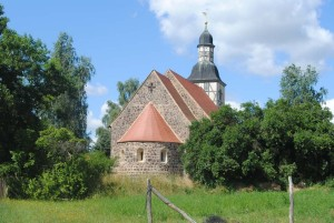 Fieldstone church in the Hoher Fläming Hills Nature Park