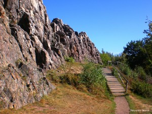 Eschbach Crags are a popular destination for day trippers and active visitors who walk in the surrounding countryside or clamber up the crags.