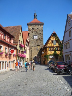 View of Plönlein square in Rothenburg ob der Tauber