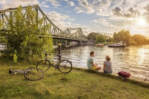 Bicycle tour to the Glienicker Bridge
