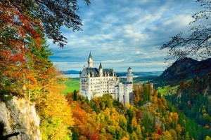 The view of Neuschwanstein Castle