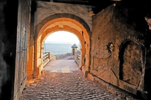 The Luther Trail, the castle gate at Wartburg Castle
