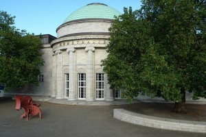 View of the rotunda of the new building