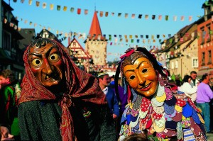 Gengenbach, witch and Spättle-mask