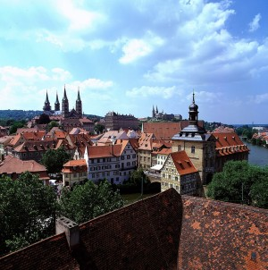 Bamberg, View from the tower of Geyerswörth Castle