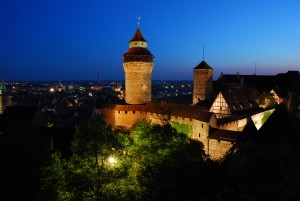 Nuremberg, Kaiserburg Castle by night