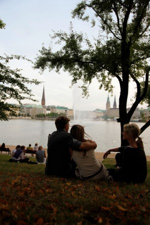 Hamburg, Young people at the Inner Alster