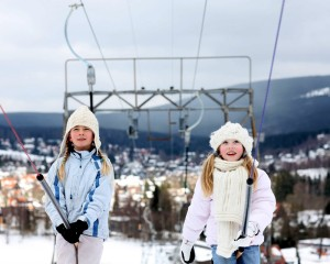 Harz, skiing children