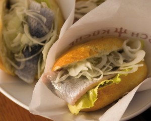 Schleswig-Holstein, typical fish roll snack