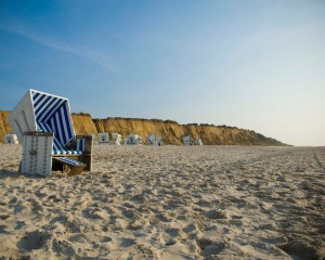 Sylt island, red cliffs