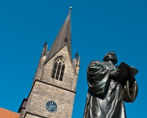 Erfurt, Merchants' Church and Luther monument