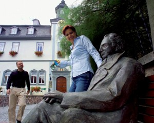 Ilmenau, town hall with Goethe