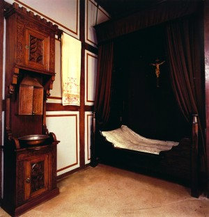 Bed chamber in the house where Luther died