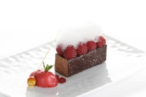 Raspberry and chocolate interpretation