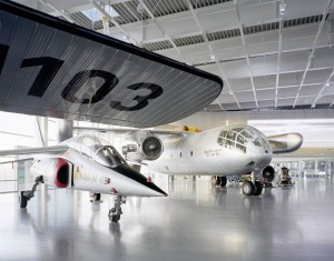 Large exhibits in the hangar