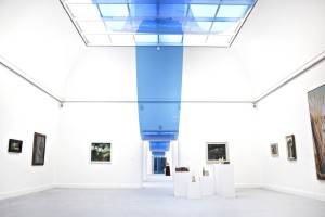 Inside the exhibition rooms at the Kunsthalle art gallery in Kiel
