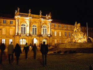 Bayreuth: New Palace by night