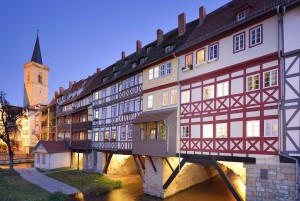 Erfurt: Merchants' Bridge with Ägidien church