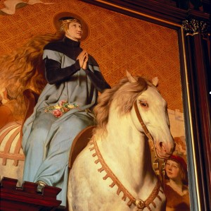 Erfurt, town hall – painting of St. Elisabeth