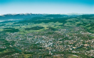 Kempten, panoramic view of the city