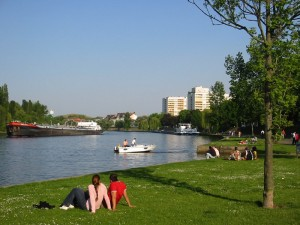 Offenbach/Main: riverbank of the Main