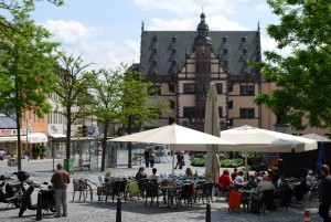 Schweinfurt: Market square and town hall