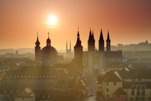 Würzburg: Old quarter at sunrise