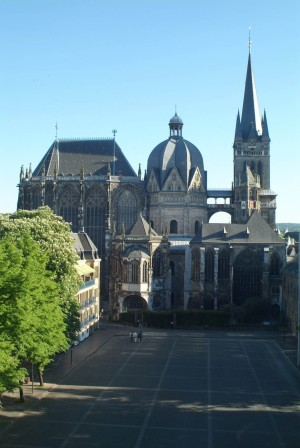 Aachen Cathedral with Katschhof square