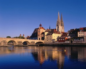 Stone Bridge and St. Peter's Cathedral, Regensburg
