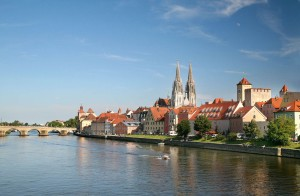 View of Regensburg from the west